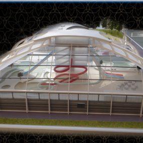 макет аквапарка, макет здания, концептуальный макет, выставочный макет, инвестиционный макет